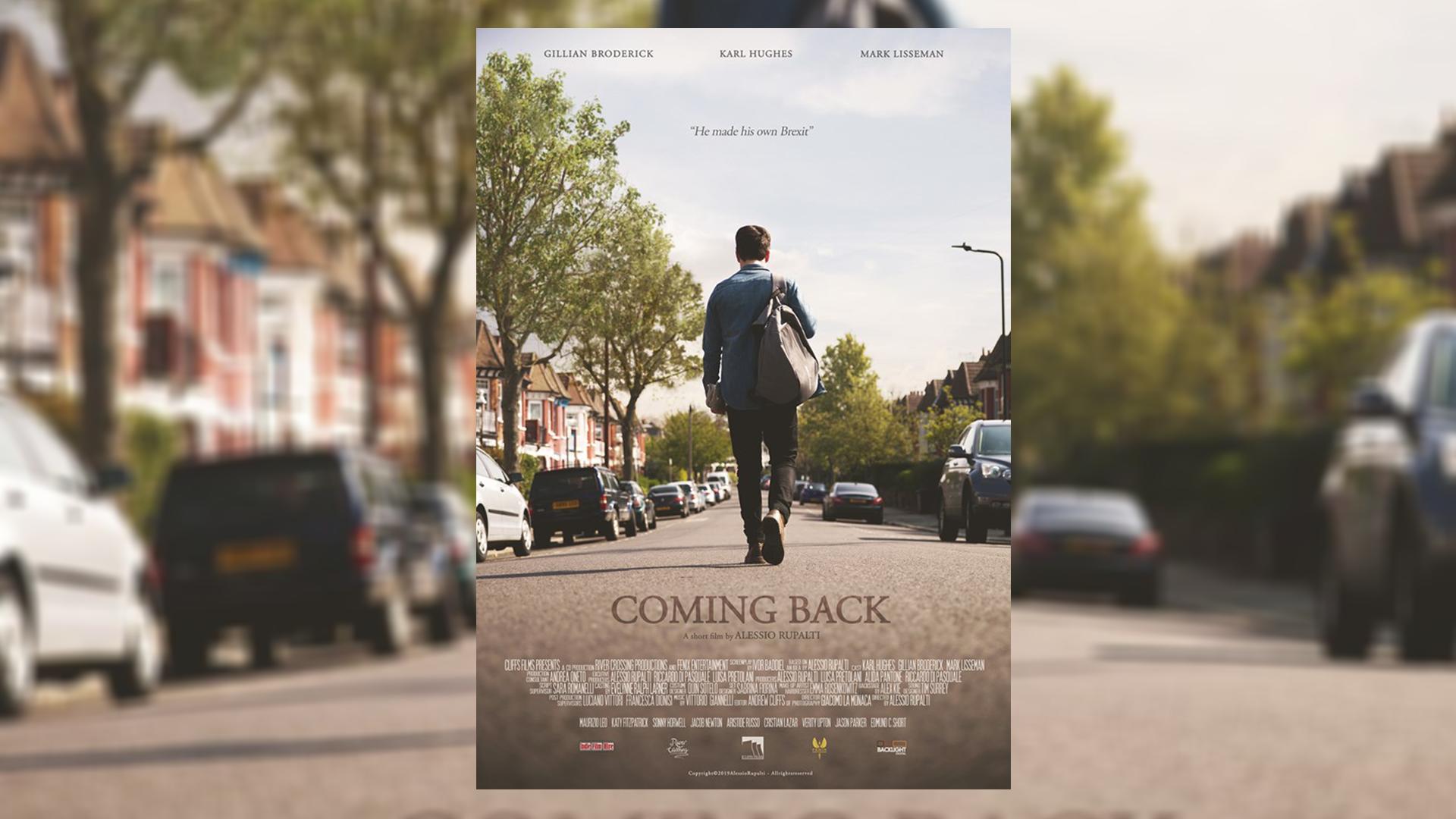 """""""Coming Back"""", il cortometraggio sulla BREXIT, in anteprima mondiale a """"Alice nella città"""""""