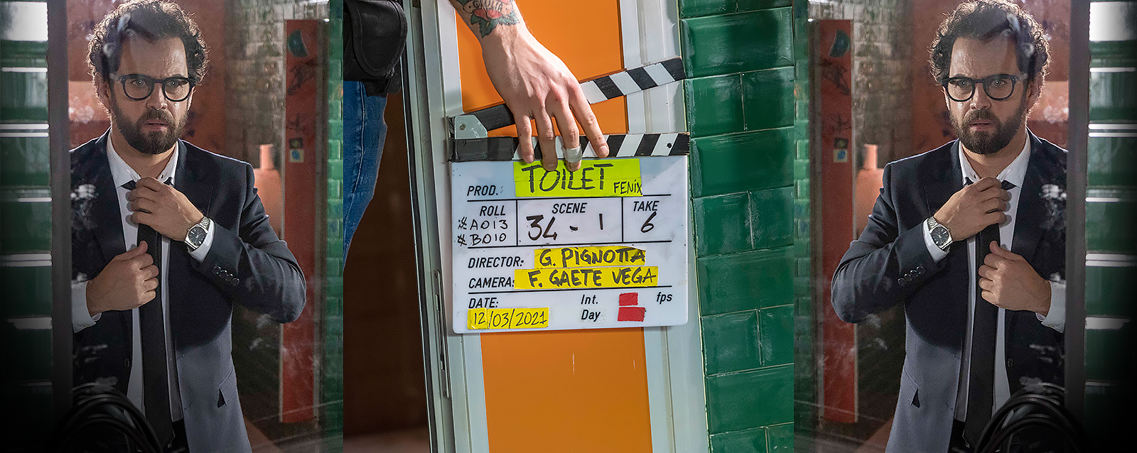 TERMINATE LE RIPRESE DI TOILET ONE-MAN-MOVIE SCRITTO, DIRETTO E INTERPRETATO DA GABRIELE PIGNOTTA